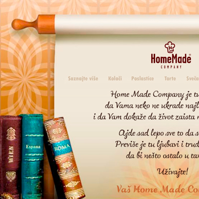 HomeMade Company. My sweet world (website)